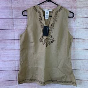 NWT Josephine Chaus Embroidered Sport Top SZ10